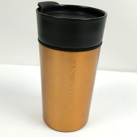 Starbucks Copper Stainless Steel Ceramic Cup 12 Oz
